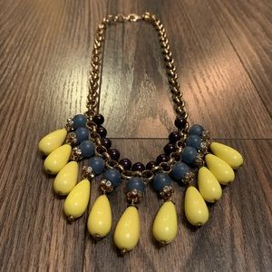 J.Crew Colorful Beaded Statement Necklace